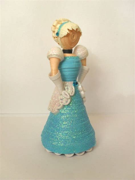 How To Make A 3d Paper Doll - 3d paper quilled doll inspired by disney s cinderella