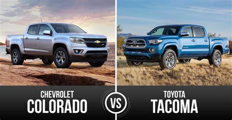 Chevrolet Colorado Vs Toyota Tacoma Rookie Vs Veteran Mid Sized Truck Chevrolet Colorado Vs