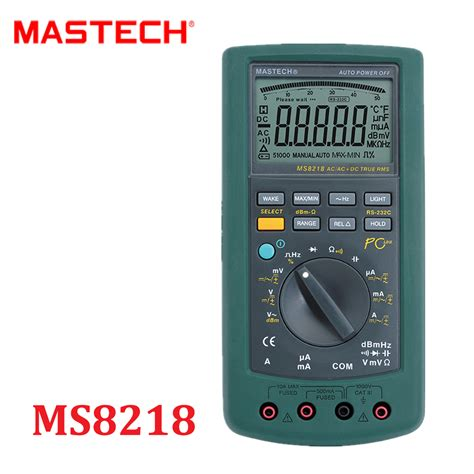 Multitester Usb mastech ms8218 digital multimeter 50000 counts multifunction true rms pc usb dmm 5 1 2 bit rs232