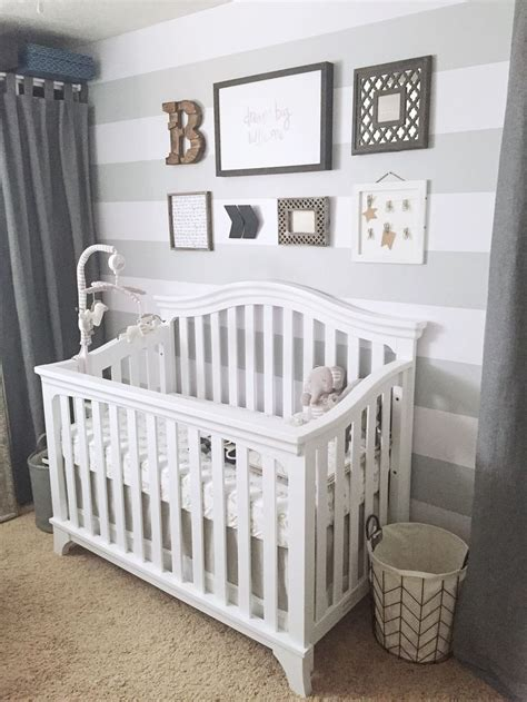 White Nursery Decor Best 25 Grey Striped Walls Ideas On
