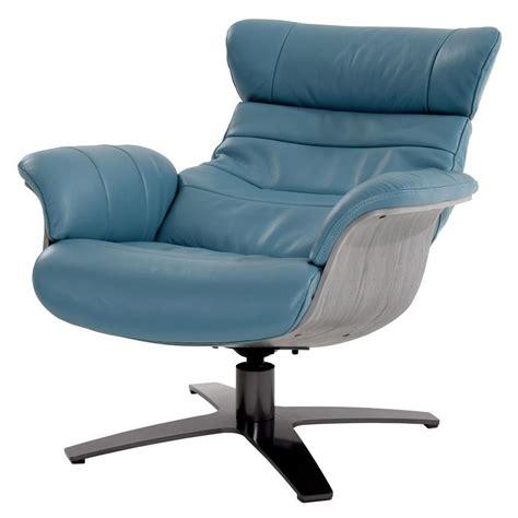 Enzo Blue Leather Swivel Chair El Dorado Furniture Enzo Swivel Chair