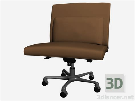 Office Chair Without Armrest by 3d Model Office Chair Without Armrests Park Poltrona Il