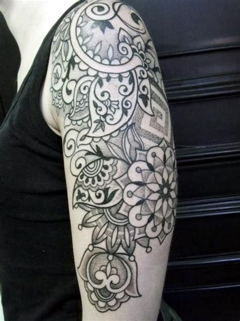 paisley quarter sleeve tattoo 101 catchy half sleeve tattoos for girls and boys