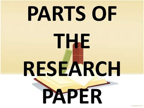 parts of a thesis research paper parts of a research paper