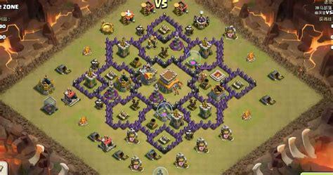 Coc Level 7 War Base | level 7 war base clash of clans pinterest clash clans
