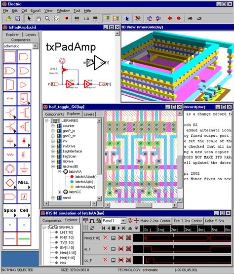 free vlsi layout editor using the electric vlsi design system version 9 07