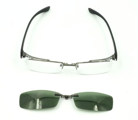s glasses frame 2pcs magnetic clip on sunglasses 2 pcs magnetic clip on sunglasses mens half rimless