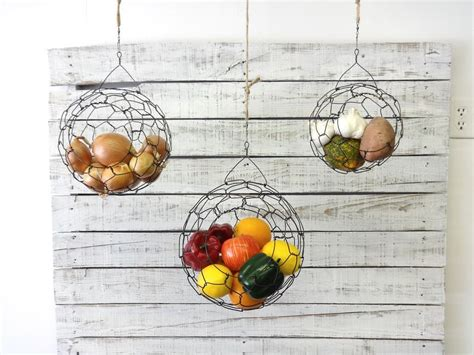Simple Ideas For Hanging Wire Basket Suspended Fruit Baskets Hanging Wire Basket