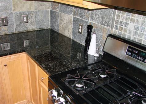 Best Tile For Backsplash In Kitchen Volga Blue Granite