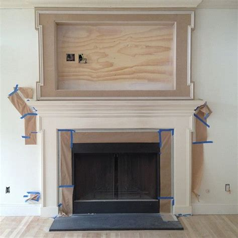 Fireplace Mantel Ideas With Tv by 1000 Ideas About Tv Fireplace On