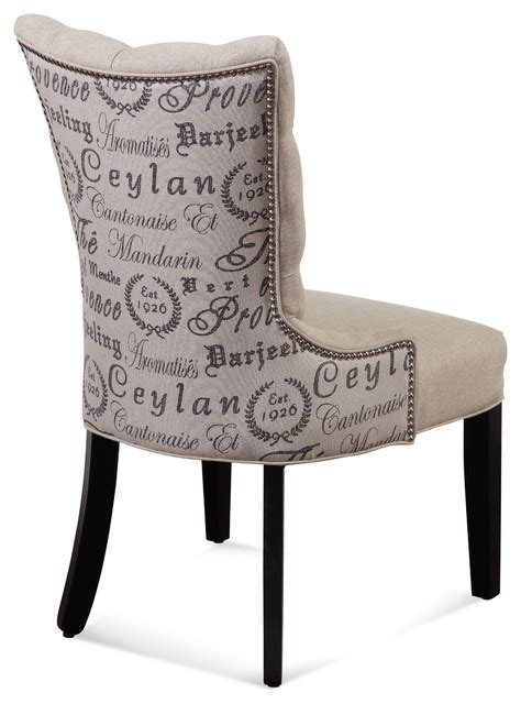 script dining chair canada fortnum parsons chairs with script fabric set of 2
