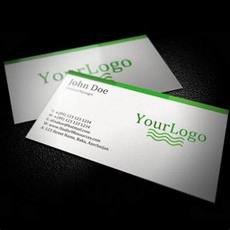 White Business Card Template Psd by 44 Free Clean And Simple White Business Card Template In
