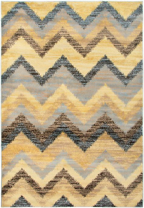 Chevron Pattern Area Rugs Bay Side Chevron Pattern Area Rug In Multi Color Beige Blue 7 10 Quot X 10 10 Quot
