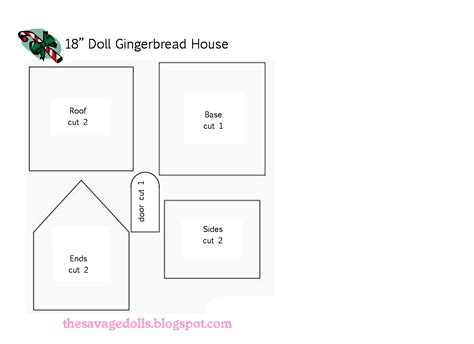 printable gingerbread house designs living a doll s life dolliday crafts for 18 quot dolls