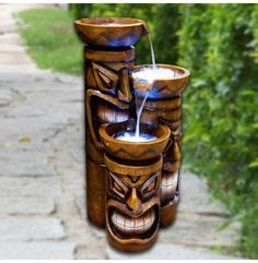 island 4 tiki indoor outdoor water fountain ebay 1000 images about novelty fountains on pinterest water