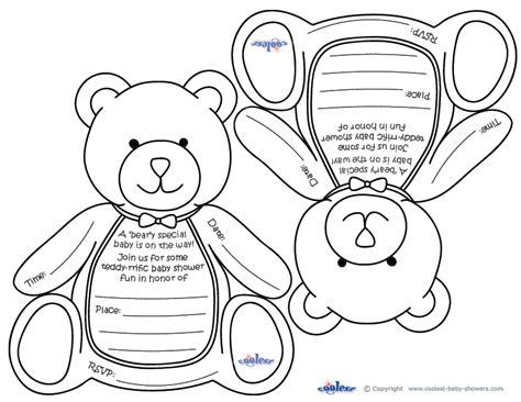 Free Printable Teddy Baby Shower Invitations