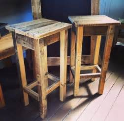 Rustic Bar Stool Plans Pallet Bar Stool Shipping Not Included