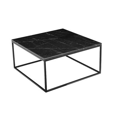 black marble coffee table onix black marble table mikaza meubles modernes montreal