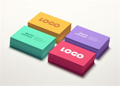 colorful business card template psd colorful business card mockup graphicburger