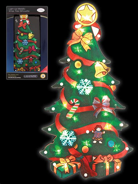christmas silhouette light led window festive xmas