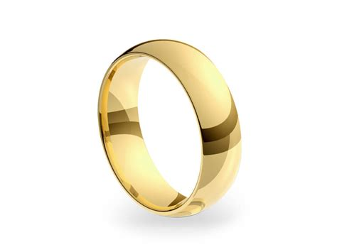 18ct yellow gold 6mm medium court wedding ring bands of