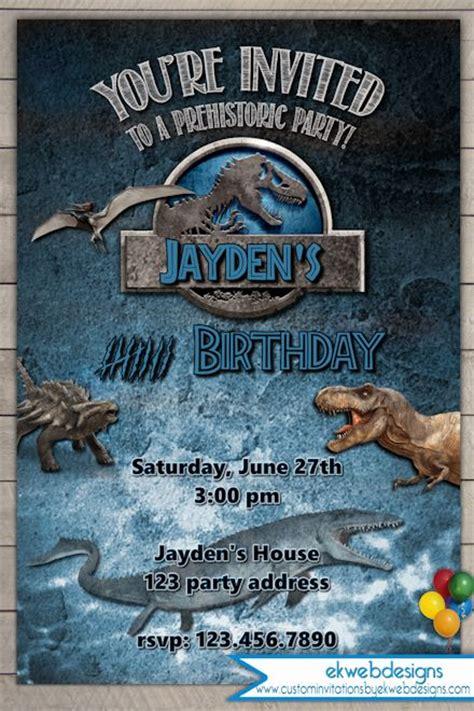 printable jurassic world birthday invitations jurassic world birthday invitation jurassic park invitation