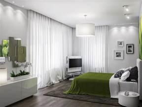 green room green white bedroom scheme interior design ideas
