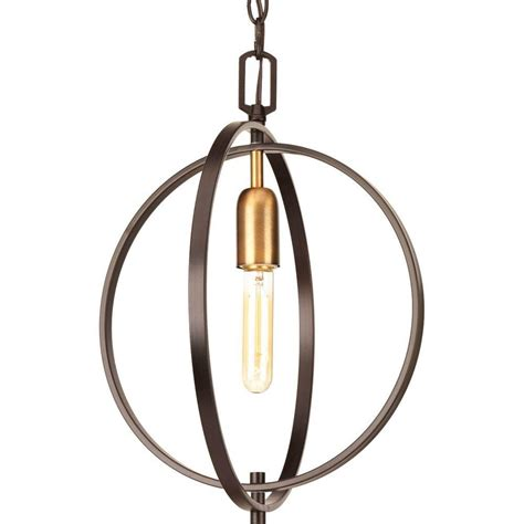 Progress Lighting Swing Collection 1 Light Antique Bronze Bronze Pendant Lights