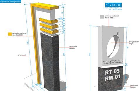 desain gapura pramuka desain pagar dan gapura masjid desain rumah mesra