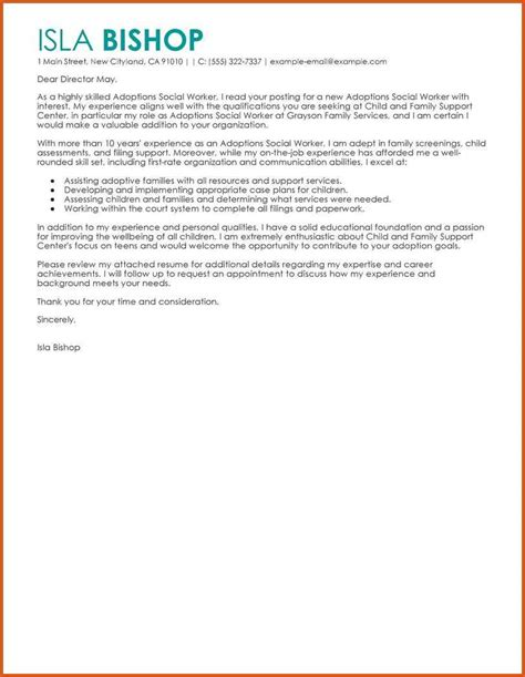 cover letter for family service worker social work cover letter general resumes
