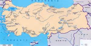 physical map of turkey rivers