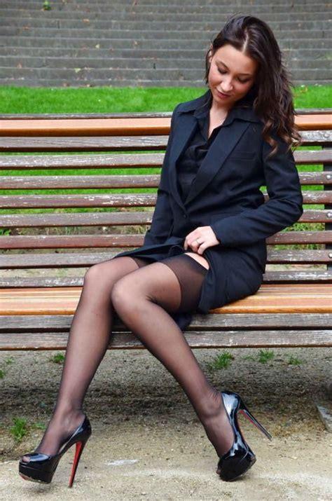 stockings under suit stockings black stilettos and skirts on pinterest
