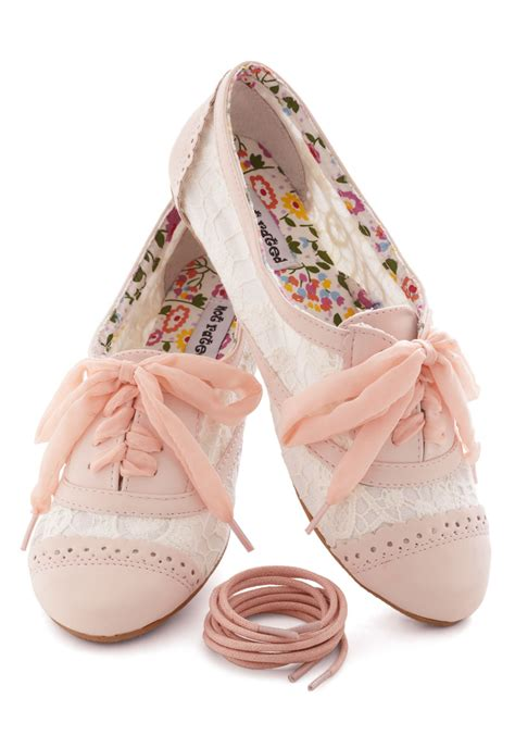 a pretty sight flat in pink cishoes
