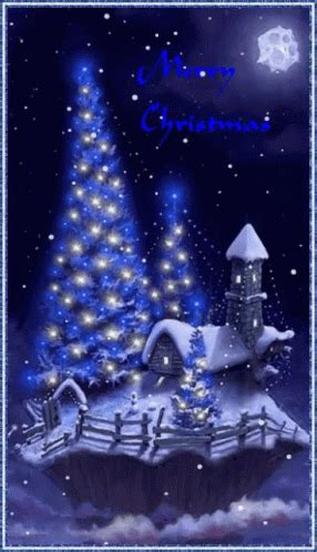 blue christmas merry christmas gif bluechristmas merrychristmas snowing discover share gifs