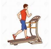Man On Treadmill Clipart  Clip Art Library