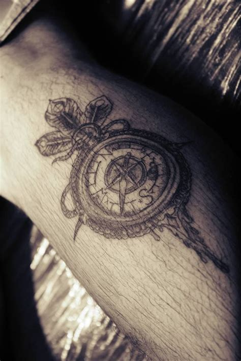 compass tattoo on thigh 17 best images about leg ink on pinterest thigh tat