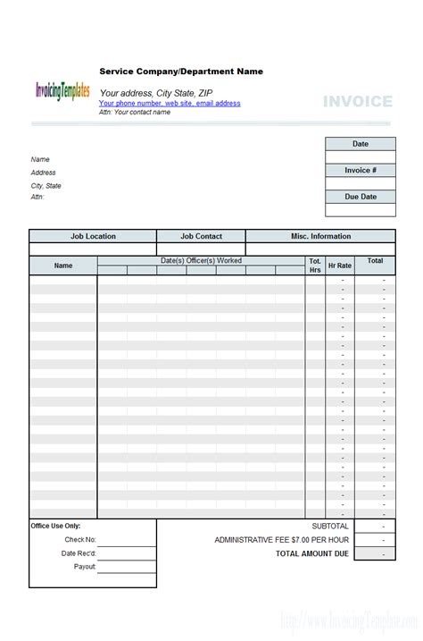 weekly invoice template timesheet free invoice templates for excel pdf