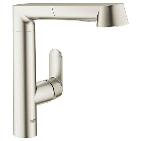 Grohe K7 Kitchen Faucet Grohe K7 Single Handle Pull Out Sprayer Kitchen Faucet In Supersteel 32178dc0 The Home Depot