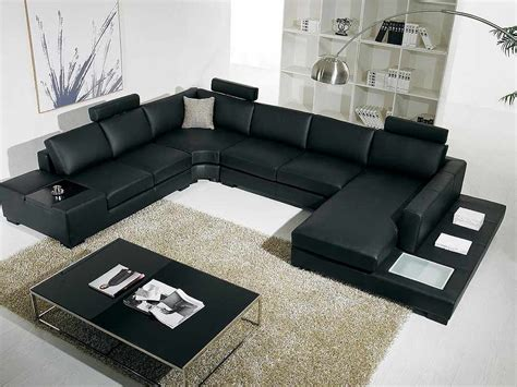 Sectional Sofas Black T35 Black Leather Sectional Sofa Leather Sectionals