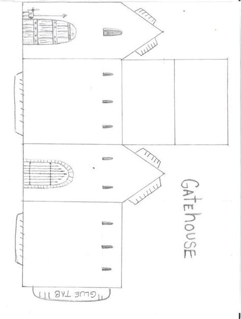 castle cut out template paper castle cut out castle cut out template