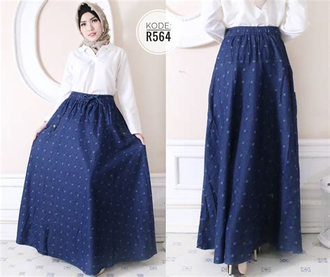 Overall Rok Payung W196 rok payung motif r564 baju style ootd