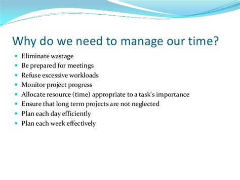 We Need More And Time by Prestentation On Time Management
