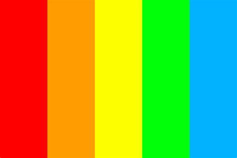 bold colors bold rainbow color palette