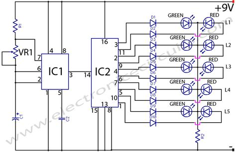 layout running led bi colour led running lights circuit diagram world