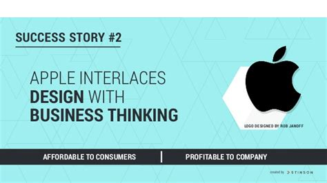 design thinking success stories apple interlaces design with