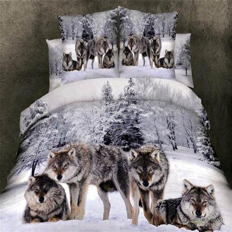 wolf comforter set queen snow wolf 3d bedding set queen king size 4pcs animal duvet