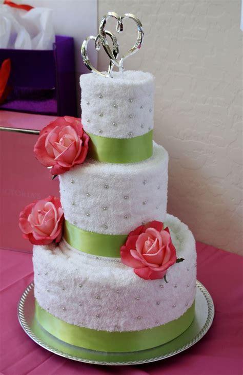 Bridal Shower Idea Towel Wedding Cake by Pin By Arrowood On Bridal Shower