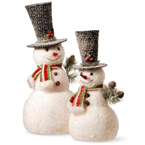 snowman home decor national tree company 14 in and 18 in snowman set rac