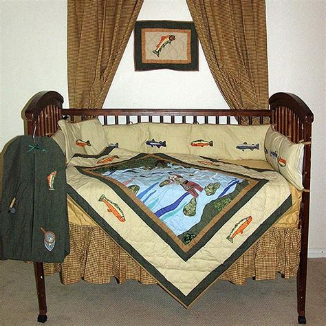 Fishing Crib Bedding Sets Fly Fishing Crib Bedding Sets Cabin Place