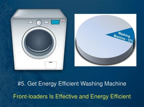 5 energy efficient washing machines visi ppt top 5 essential ideas to save energy with laundry